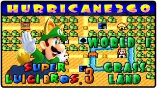 Super Luigi Bros 3 World 1: Grass Hill (Part 1) Year Of Luigi