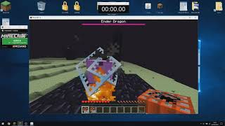 Minecraft Any% Set Seed Glitchless Peaceful Superflat Speedrun (01:54.80 IGT)