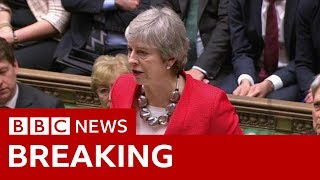 May: I profoundly regret MPs' decision - BBC News