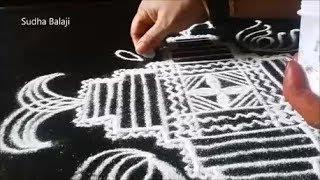 Dussehra kolam    Dasara rangoli designs   Sudha Balaji muggulu