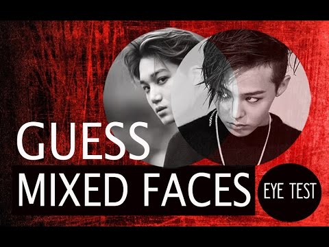 KPOP CHALLENGE #8 - Guess Mixed Faces Of Boy Group (Eye Test)