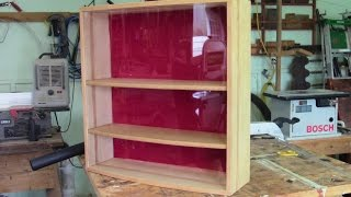 This week we build a strong versatile display case with an easy-to-do curved front glazing.