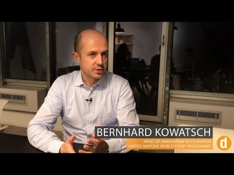 Bernhard Kowatsch, Head of UN World Food Programme's Innovation Accelerator