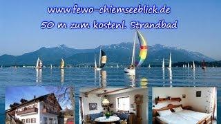 Vermiete Ferienwohnung am Chiemsee direkt am See