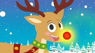 El Reno Rodolfo | Canción popular navideña | Villancico para niñas y niños