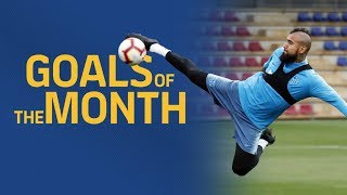 GOALS OF THE MONTH | April's training sessions