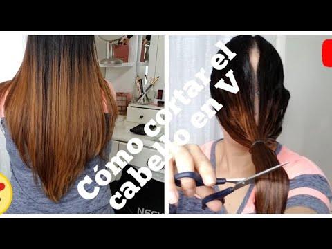 Como cortar el cabello corto en v