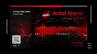 Audio Spectrum / Music Visualizer Concept S11 (Dark Side)-FREE After Effects Template Download