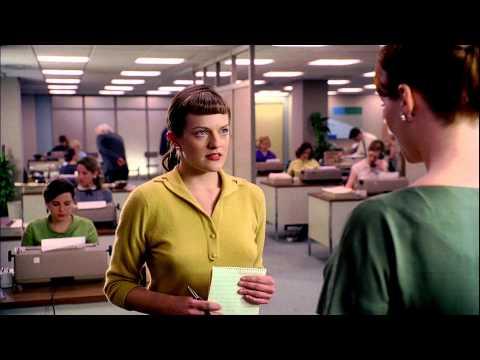 "Mad Men Season 7 Elisabeth Moss ""Peggy Olson"" Interview"