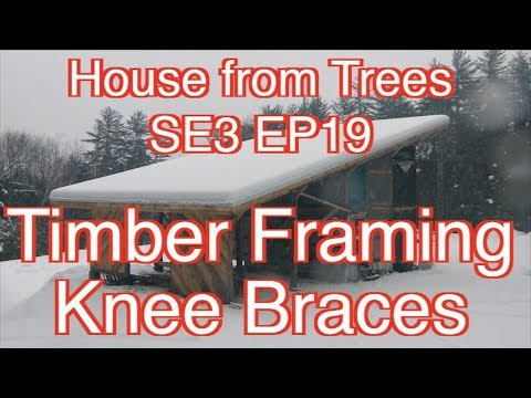 Building A House From Trees SE3 EP19 Timber Framing Knee Braces
