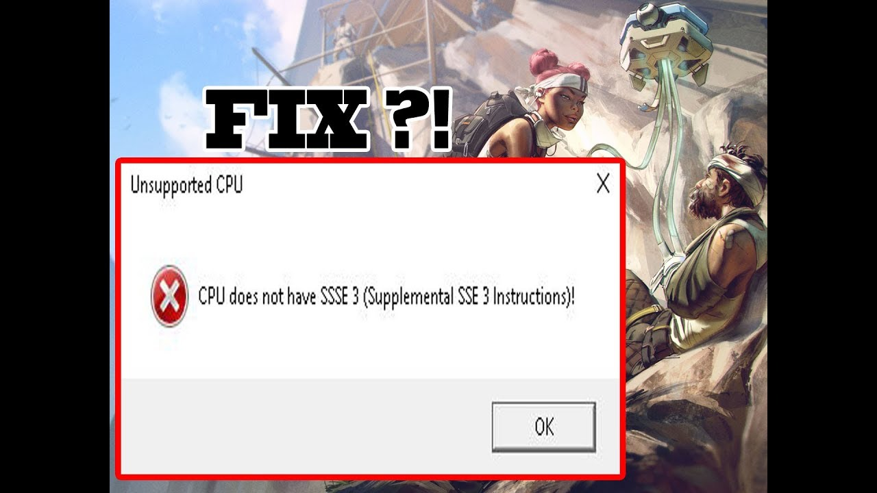 Cpu does not have SSSE3 (Suppl...