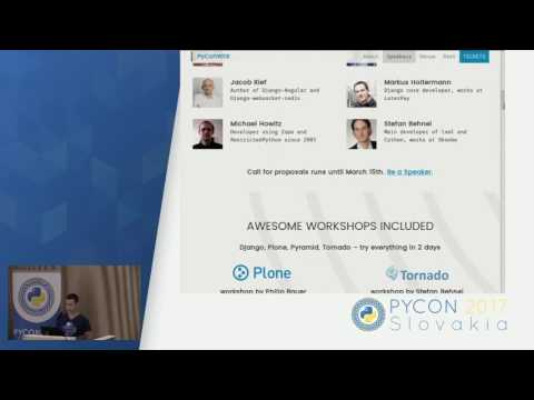 Image from Lightning talks: PyCon web 2017