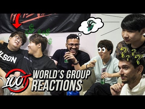 100T REACTS TO WORLDS GROUP DRAW!