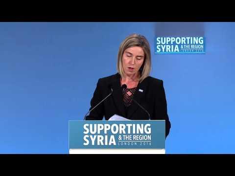 Federica Mogherini, High Representative, Foreign Affairs and Security Policy, EU
