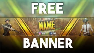 Free #PUBG YouTube Channel Art/Banner  Template - PSD | Photoshop CC 2018