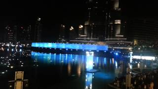 Dubai Fountain laser show - DSF 2013 Part 1/4