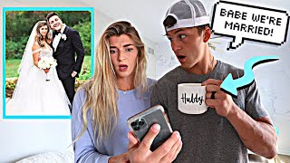 Convincing Her We're Married Prank *Cute Reaction*