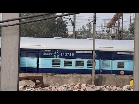 Indian Train in Lahore Junction with different locomotives