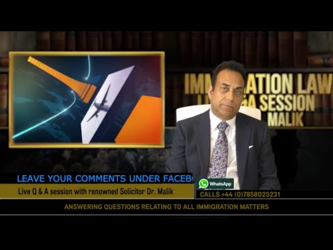 Hidayat TV immigration Law with Dr Malik 13 April 2018