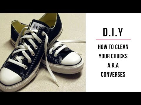 How to Clean your (Chucks) Black and White Converse Sneakers