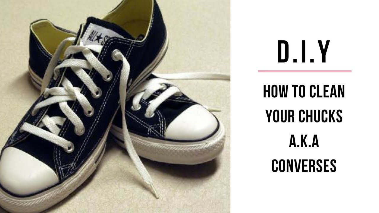 f33c46186960 How to Clean your (Chucks) Black and White Converse Sneakers - YouTube