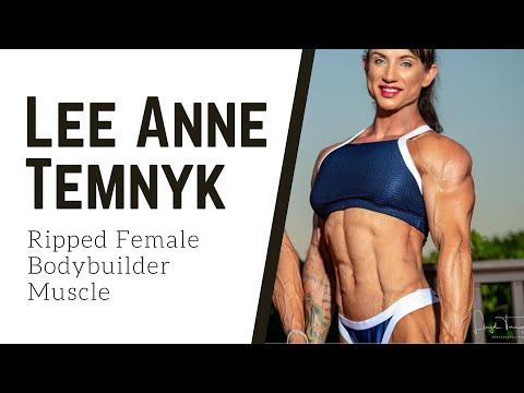Lee Anne Temnyk Shredded Female Bodybuilder Muscle