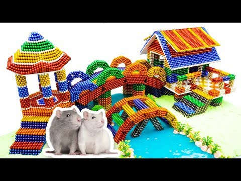 DIY - How To Build Amazing House For Hamster With Magnetic Balls Slime (Satisfying) - Magnet Balls