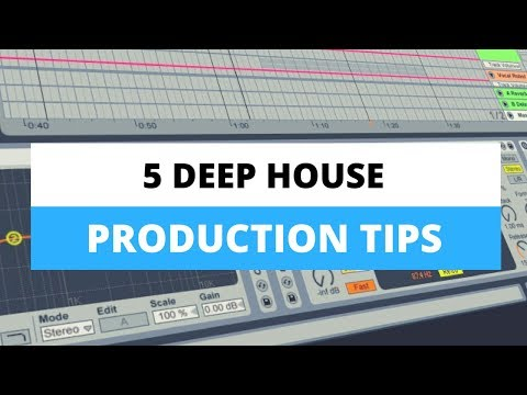 5 Deep House Production Tips - Demonstration in Live 9