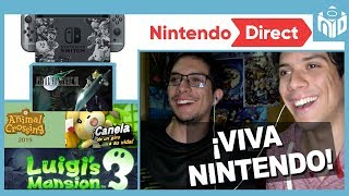 REACTION Nintendo Switch: Final Fantasy VII - Animal Crossing - Luigi's Mansion 3 | N Deluxe