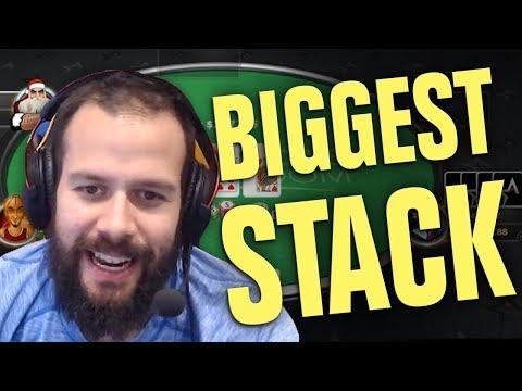 BIGGEST STACK IN ONLINE POKER CHALLENGE! - 동영상