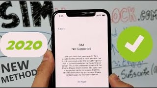 2019 Sim Not Supported SOLUTION & How to Unlock iPhone from Carrier - USE ANY SIM CARD!