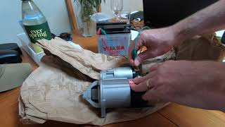 Electrical testing of a starter motor and solenoid