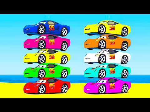 Thumbnail: LEARN COLORS w McQueen and Truck Learn Numbers w Cars Cartoon for Kids & Spiderman Learning Video