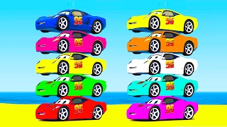 LEARN COLORS w McQueen and Truck Learn Numbers w Cars Cartoon for Kids & Spiderman Learning Video
