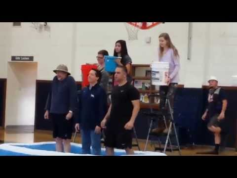 F E Peacock Middle School raising funds with the Ice Bucket Challenge!
