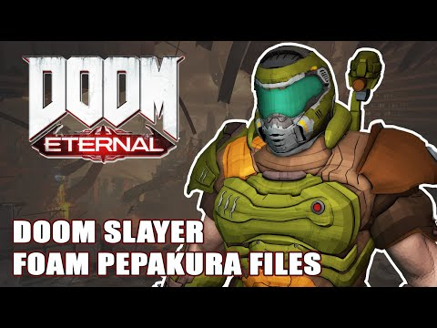 Doom Eternal Slayer Cosplay Pepakura Foam File Templates Youtube