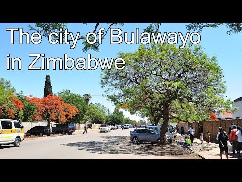 Driving through the streets of the city of Bulawayo in Zimbabwe
