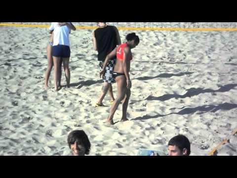 Beach voley - ultimo punto -Uruguay vs Venezuela - fabiana gomez lucia Guigou