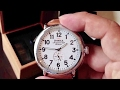 Detroit built Shinola Runwell 47mm white face wristwatch watch unboxing and first impressions