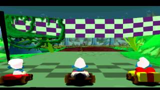 Smurf racer Gameplay Championship (PlayStation)