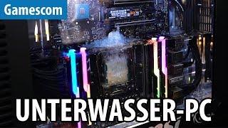 Unter WASSER GESETZT! 10.000-EURO-PC von der8auer - Gamescom 2017 | #Gaming-PC