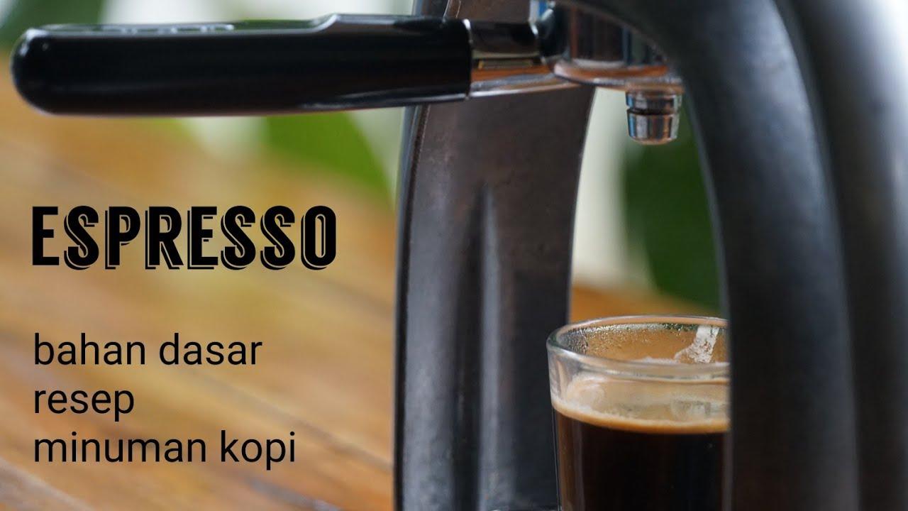 Youtube Espresso Kopi Resep Minuman