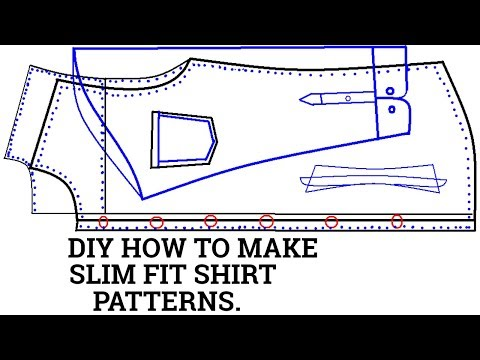Slim Fit Shirt Marking and Cutting-Slim Fit Shirt Marking and Cutting ! How to Tailor a Dress Shirt.