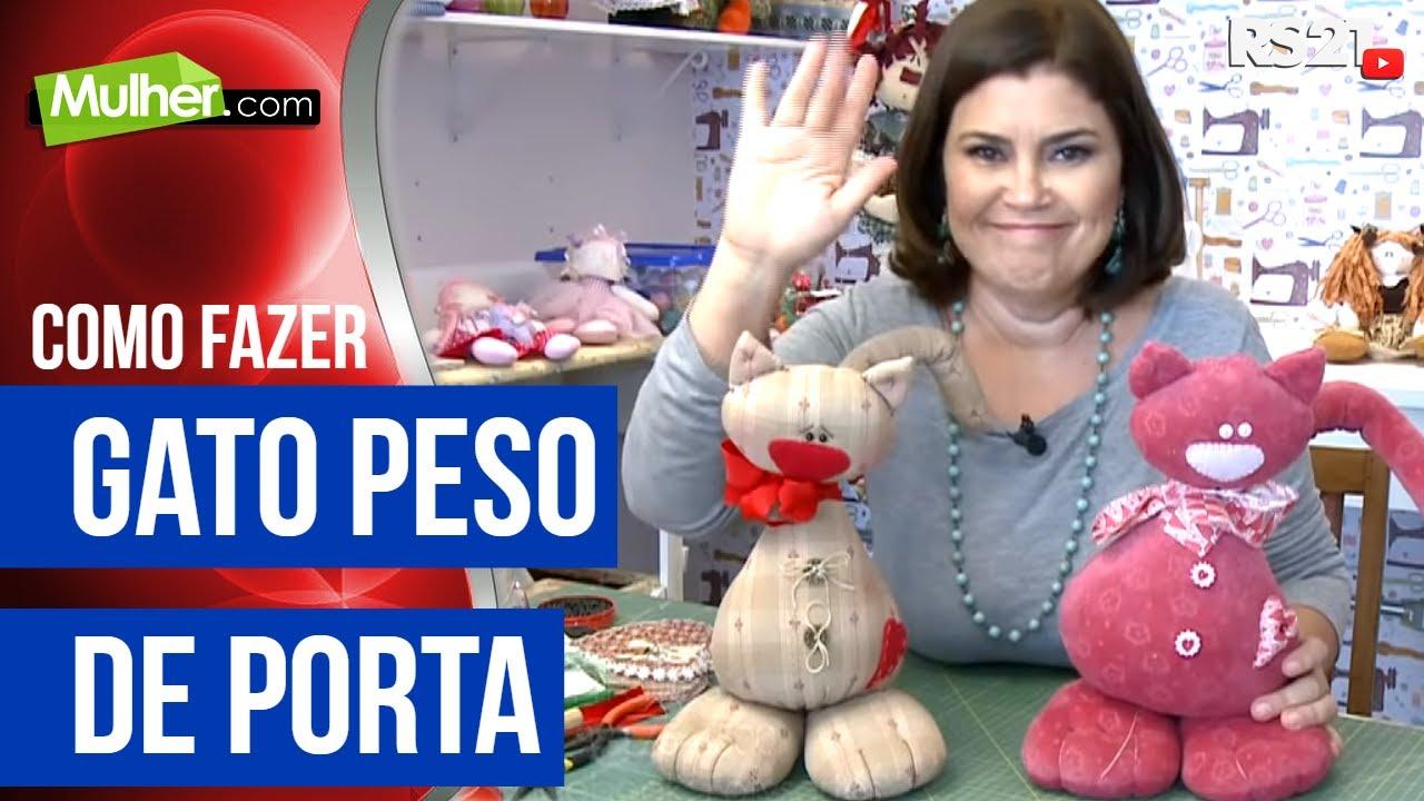 Conhecido Mulher.com - 04/01/2016 - Gato peso de porta - Sara Sardim - YouTube UC96