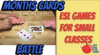 Esl Game For Learning Months | Months Cards Battle | Easy Esl Games