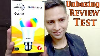 Wipro smart led bulb | Wipro Garnet Smart bulb NS7001 Rectangle Base B22 7-Watt Smart LED Bulb (RGB)
