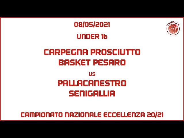 [u16] Carpegna Prosciutto Basket Pesaro - Pall.Senigallia: 88-58