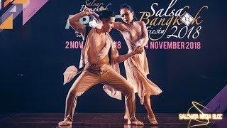 SALSA BANGKOK FIESTA 2018 @ Ngoc Nam & Bich Ngoc - Bachata Performance