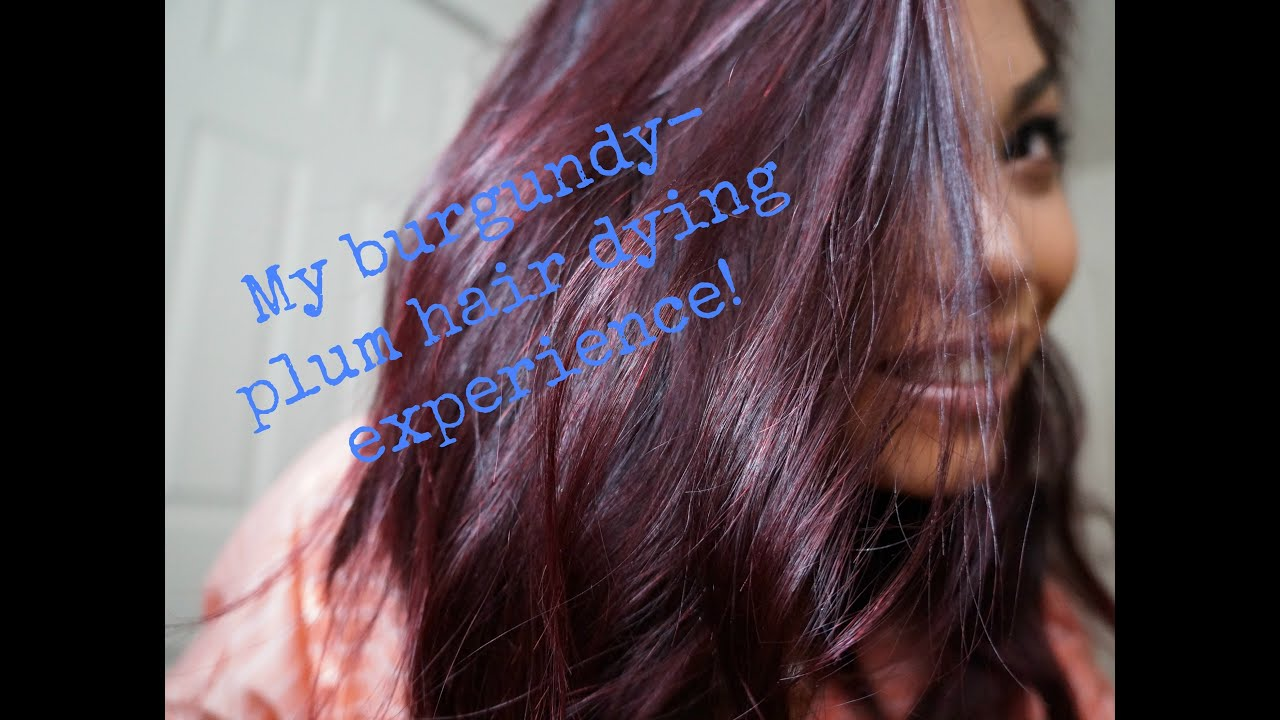 MY Burgundy Plum hair dye experience!! - YouTube