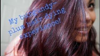 Repeat youtube video MY Burgundy Plum hair dye experience!!